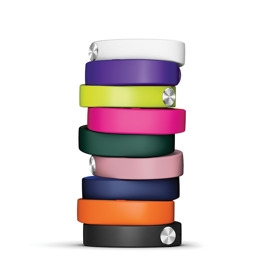 A pile of Sony Mobile smartbands