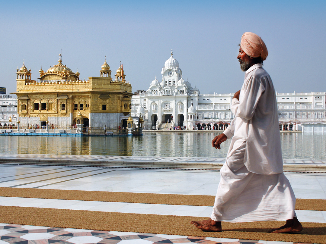 The Golden Temple in India, photograph by Russ Smith